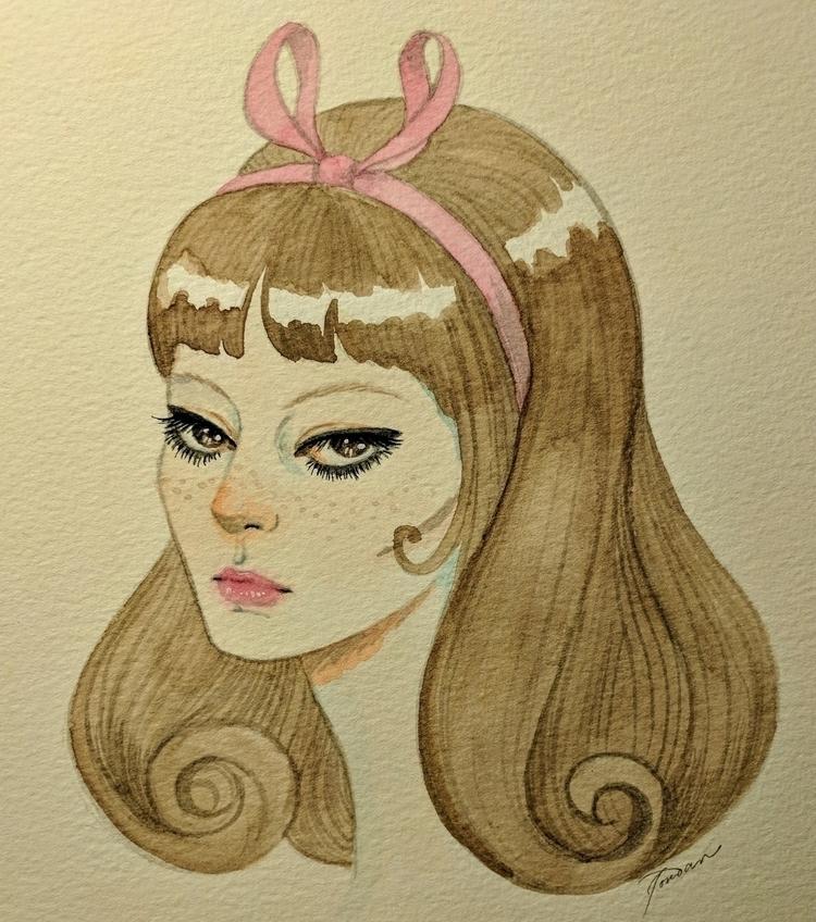 Anna Karina - watercolor, frenchnewwave - jordanwester | ello