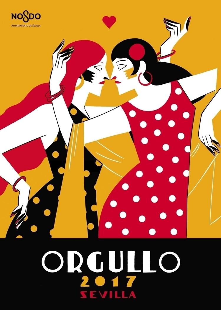 Pride 2017 poster Sevilla City  - carlaberrocal | ello