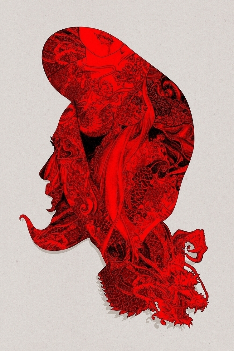 RED DRAGON Stefania Grippaldi  - ideasfly | ello
