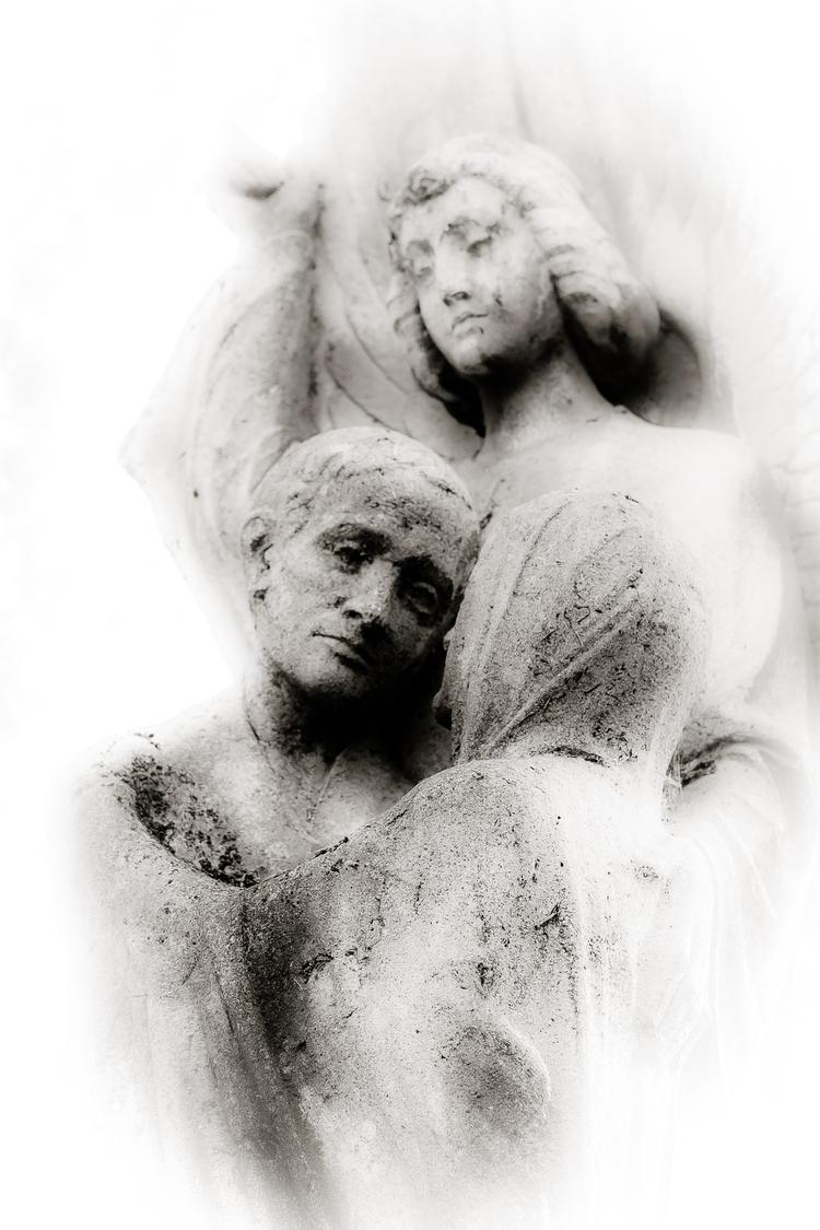 Love - statue, cemetery, graveyard - ericvandael | ello