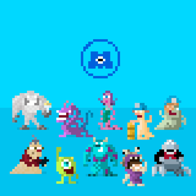 set Monsters - 16x16 - pixelart - apoonto | ello