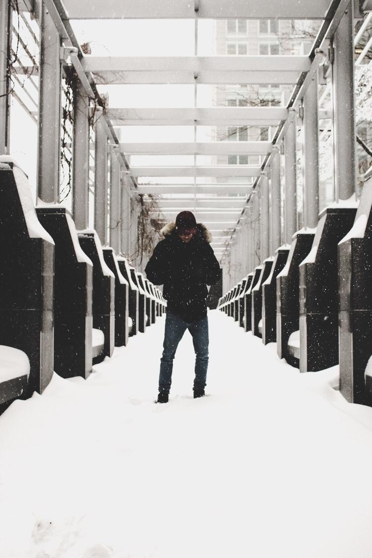Montreal, portrait, snow, photography - thenorthernlight | ello