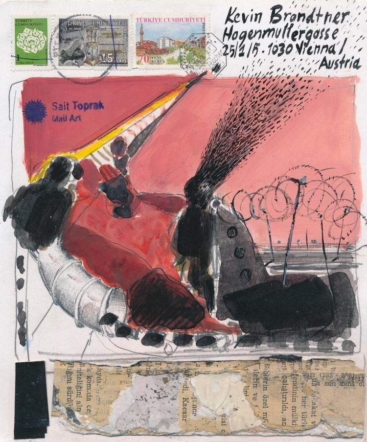 wonderful piece Sait Toprak/TUR - papiergedanken-collage-art   ello