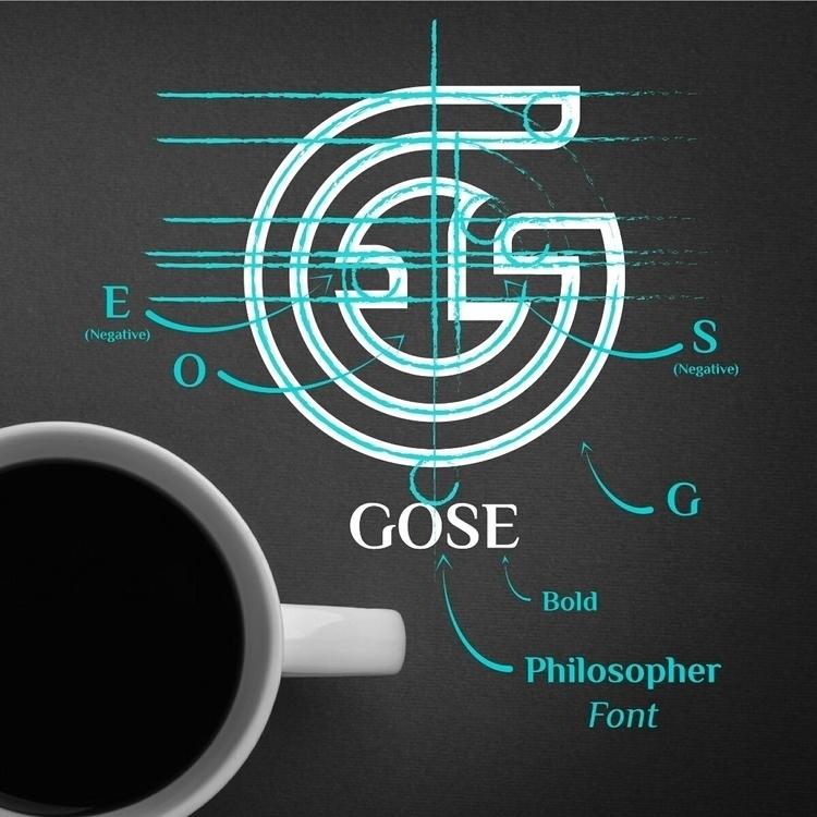 Logo process Gose Mark (Instagr - gose_designs | ello