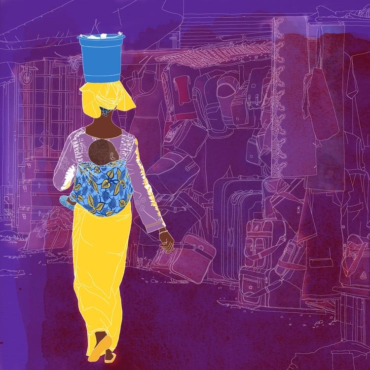Senegal illustration Kedougou m - digitalillustrationworks | ello