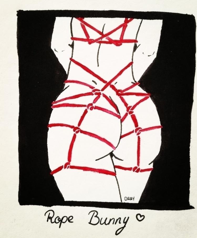 Rope Bunny . Dibujo al estilo d - drayquinn   ello