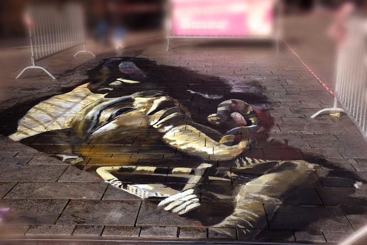 14 meters painting 3D streetart - sonjamazereel | ello