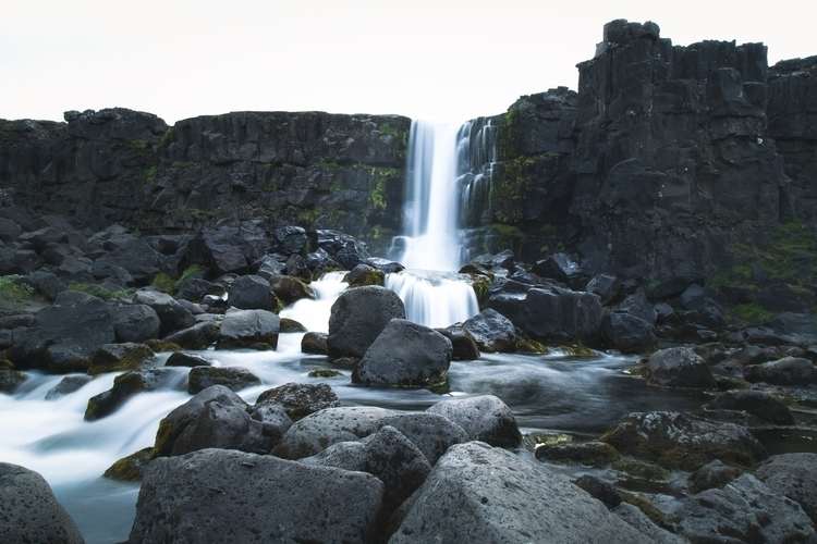 Iceland waterfall Submitted Des - klausbrunner | ello