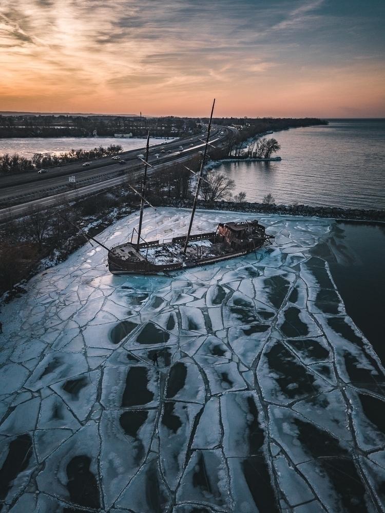 Shipwrecked - dji, aerial, drone - adaptive_kromatics | ello