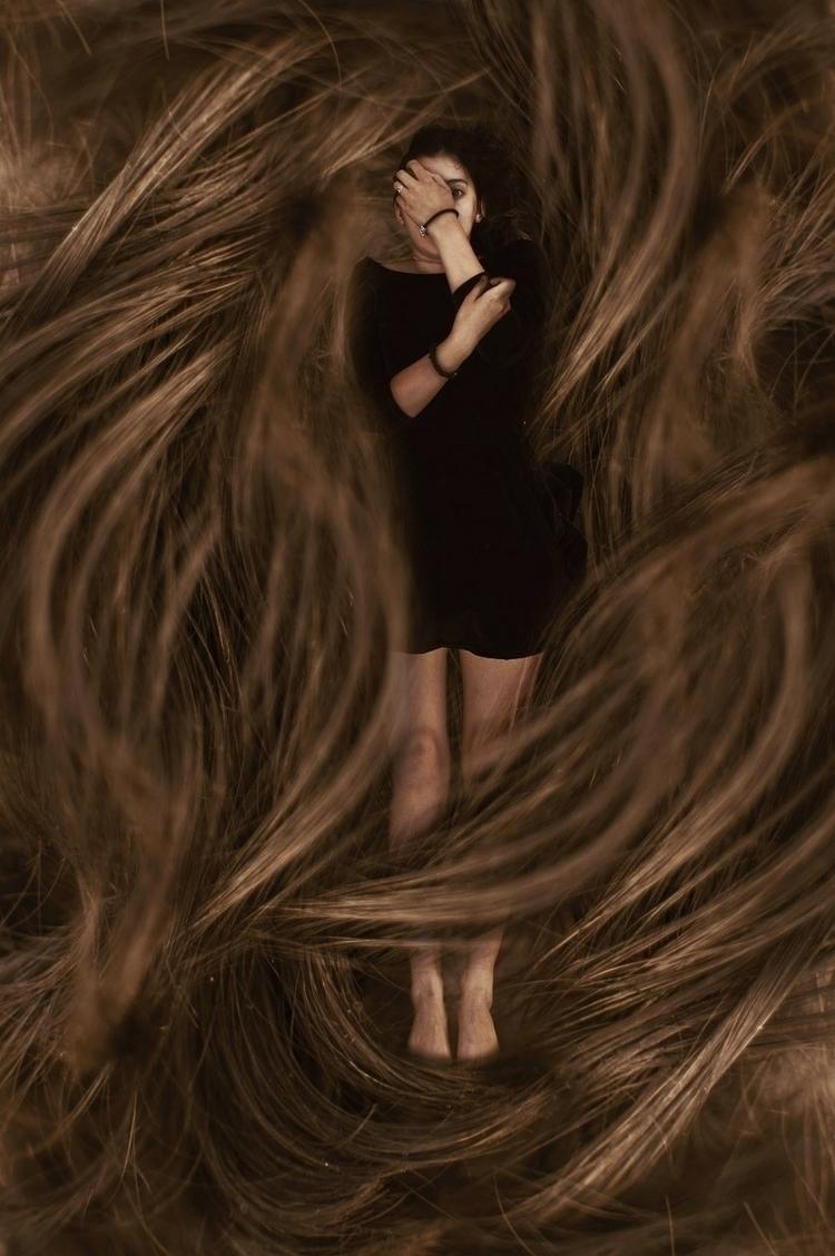 hair, pelo, surreal, surrealism - kathychareun | ello