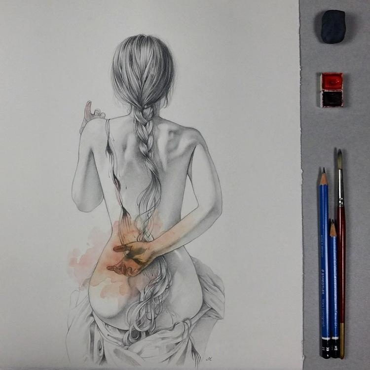 Lethean graphite watercolor pap - ania_tomicka | ello