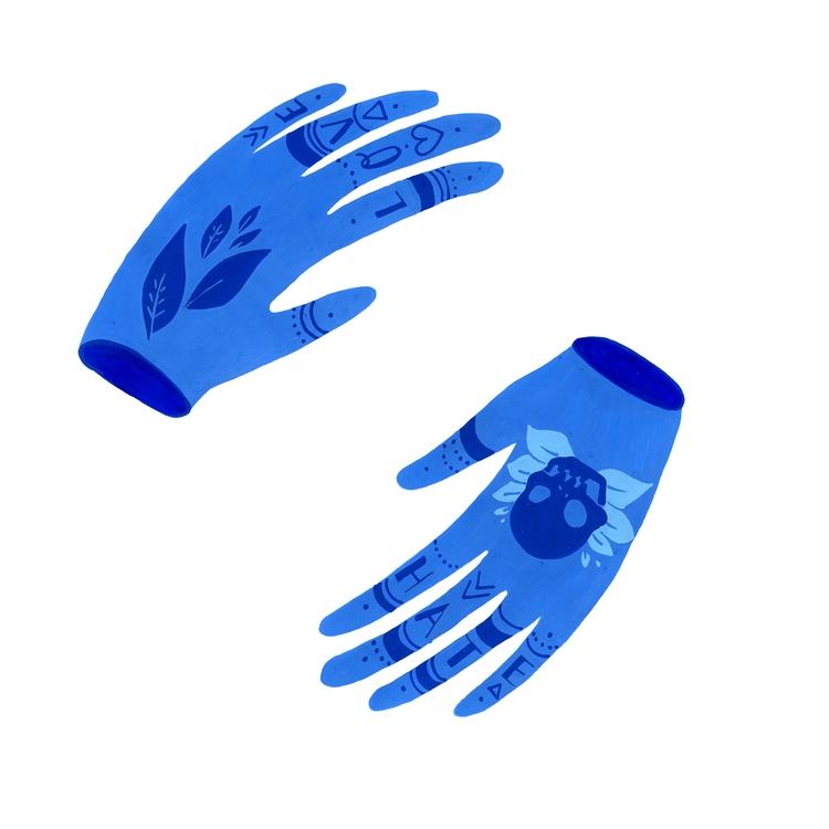 Tattooed Hands — 1 - hands, illustration - snailisa | ello