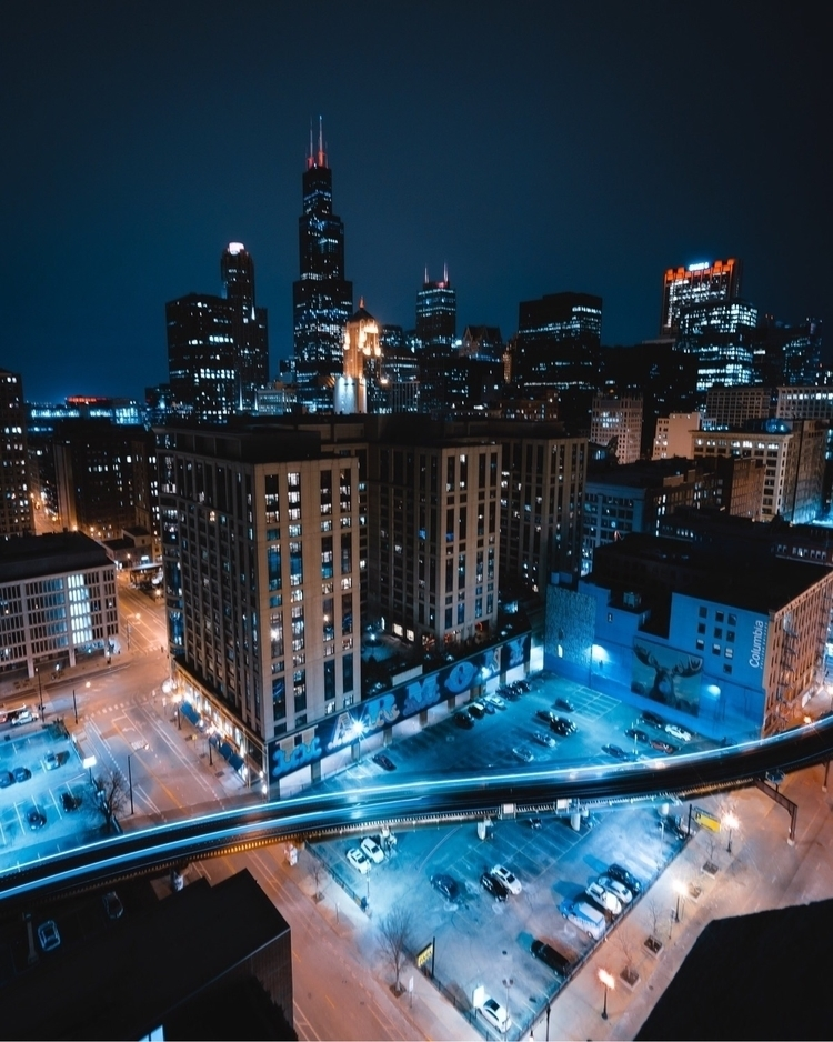 Blue hour - chicago, nightphotography - knacqua | ello
