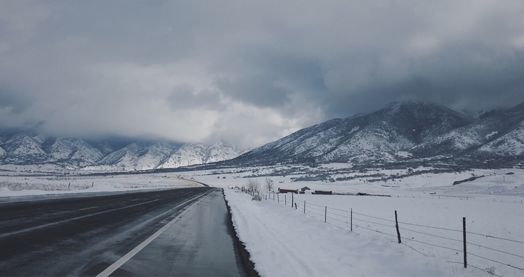Winter drives - winter, mountains - lauragraphs_ | ello