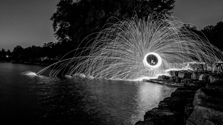spinning steel wool lake - steelwoollandmarks - vnrphotography | ello