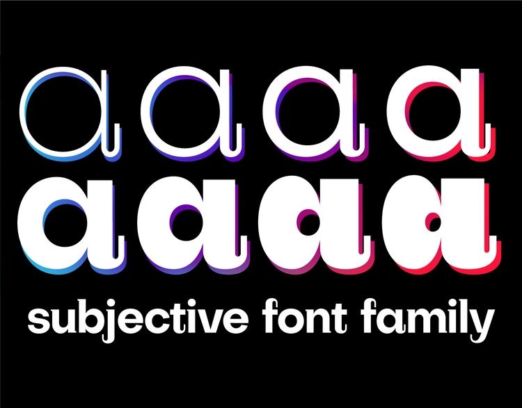 Subjective display font family - slobzheninov | ello