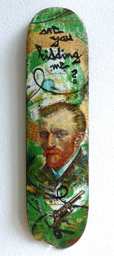 Kidding // acrylics skateboard - piek7 | ello