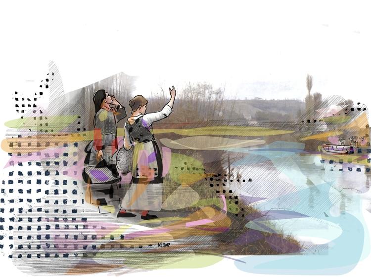 barqueiro - Illustration, HistoriasDeMiño - ki_furallefalle | ello