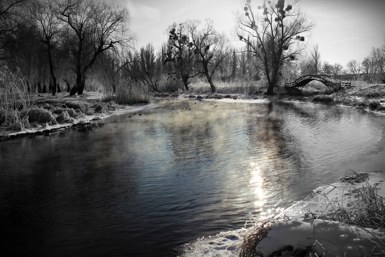 Winter River day Submitted Desi - crazy_loops | ello