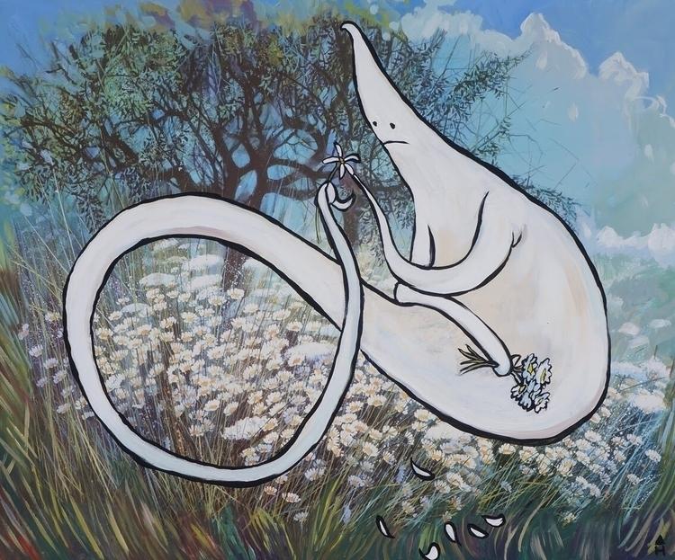 series ghost paintings working - charliehaskins   ello