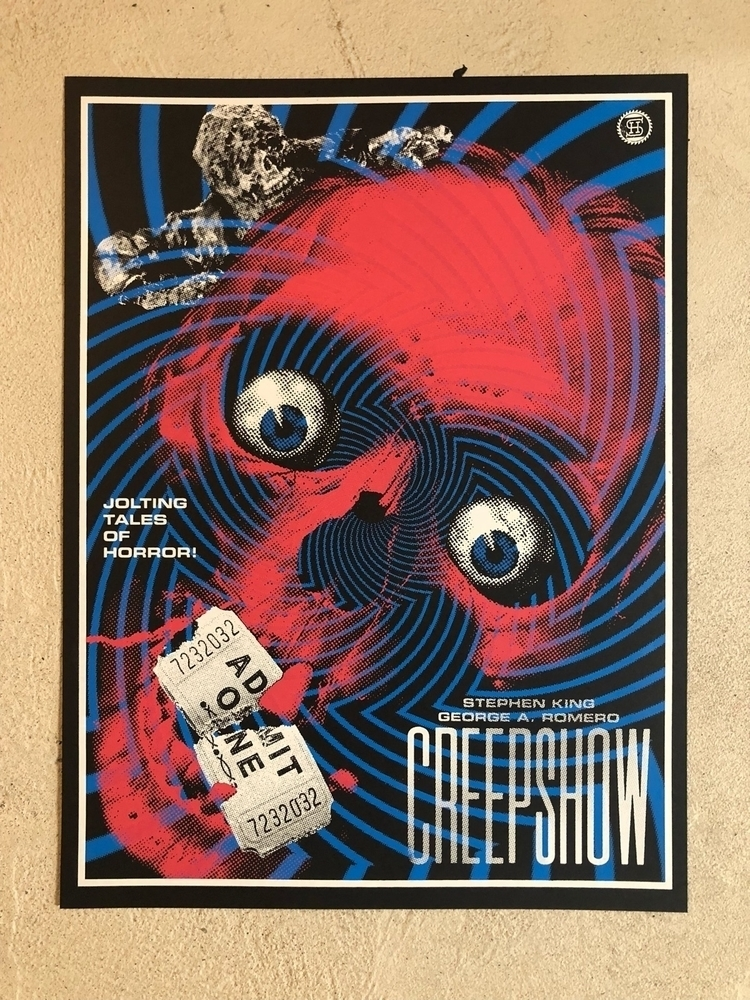 """CREEPSHOW"" 18x24"" 3 color silk - studiohouse 