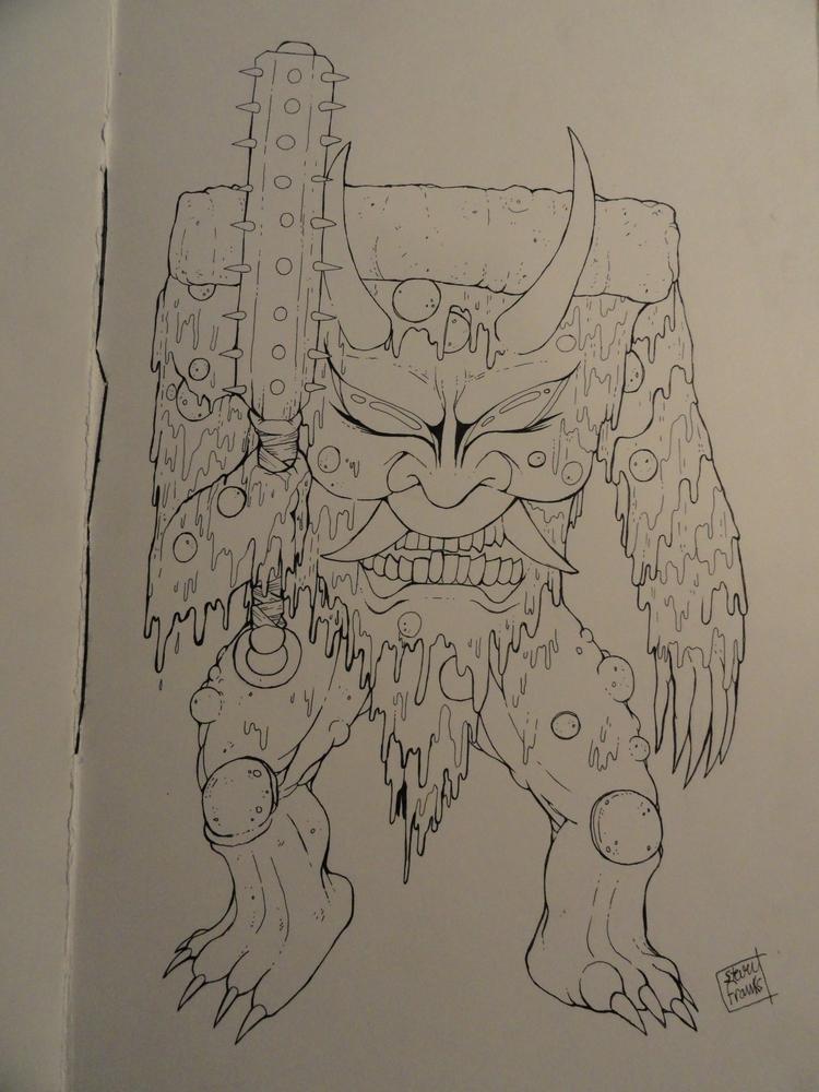 Pepper-Oni - kaiju, art, demon, crabtornado - crabtornado | ello