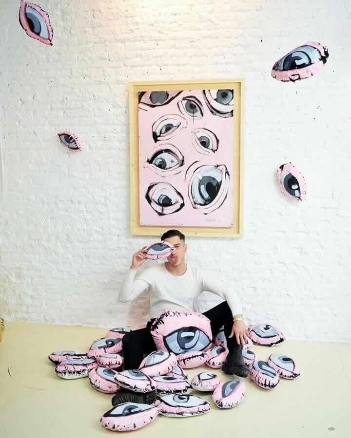 eyes - art, franmunyoz, pink, photo - franmunyoz | ello