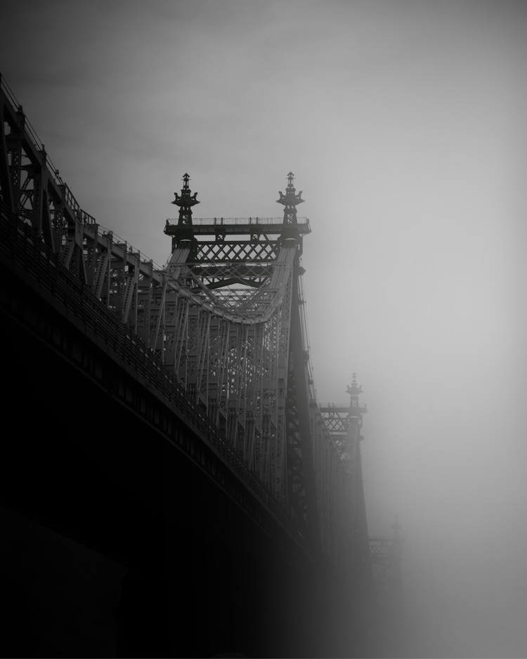 Rain Time - nyc, rain#bridge, blackandwhite - adamwhittakernyc | ello