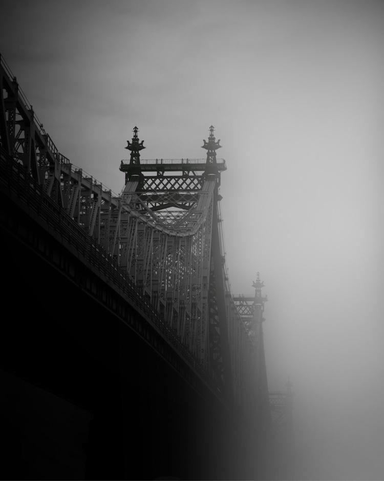 Rain Time - nyc, rain#bridge, blackandwhite - adamwhittakernyc | ello