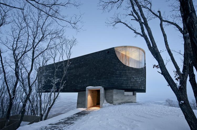 Ski slope observatory frames vi - elloarchitecture | ello