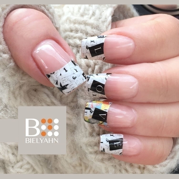 Day French tips - nailart, decal - bielyahn | ello