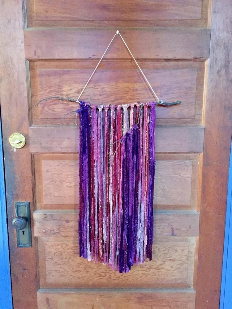 wall hanging mix 2 yarns. twig  - jenniferadams | ello