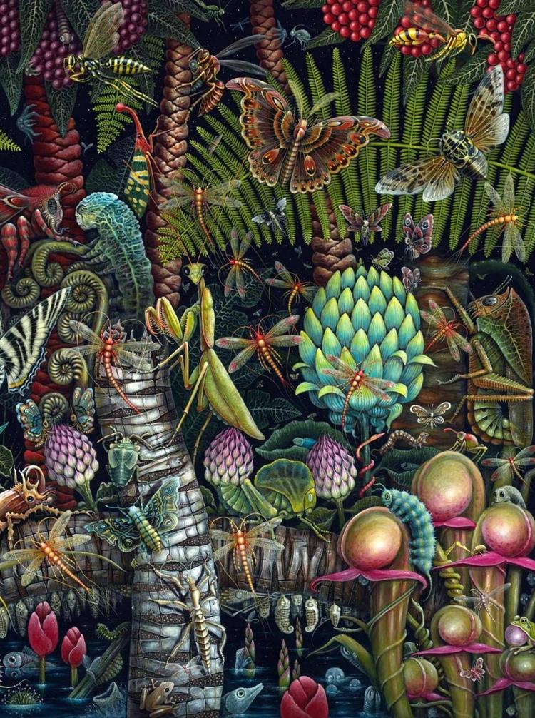 'Microcosmic Garden' (detail - robertstevenconnett - wowxwow | ello