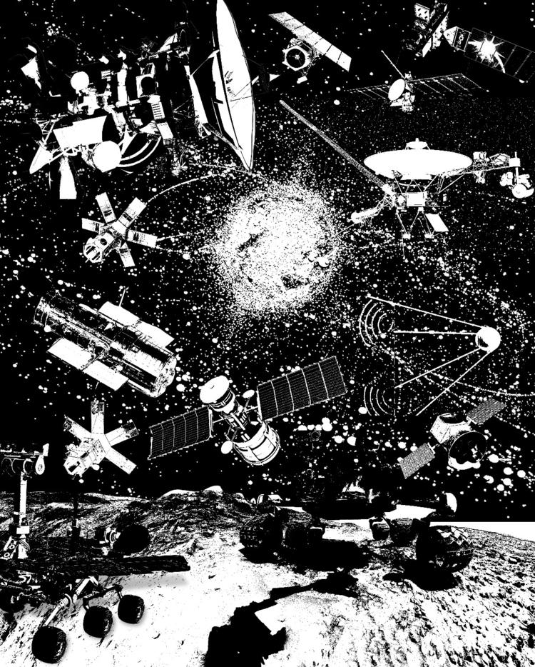 Space junk - illustration, ink, digitalart - lafe71 | ello