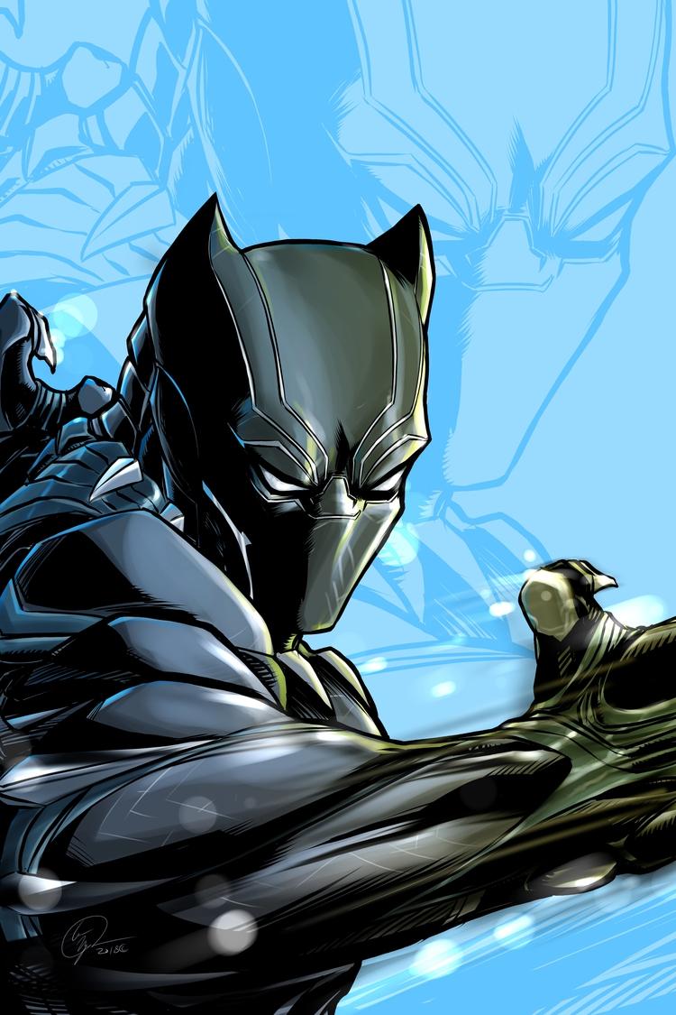 Black Panther bit fun Fan Art M - locnguyen | ello