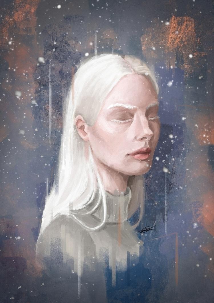 Winter - illustration, art, artist - elperezosoartista | ello
