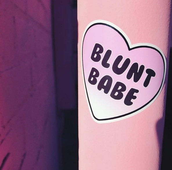 Blunt Babe stickers shop! Check - lilxbun | ello
