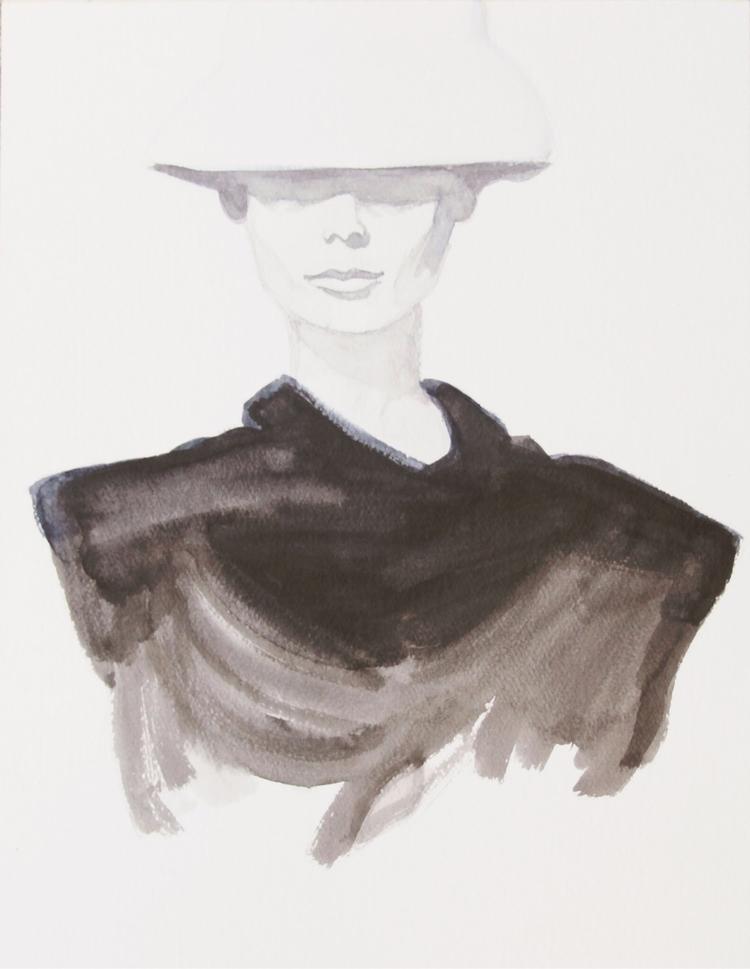 watercolor, audreyhepburn, painting - otterglitter | ello