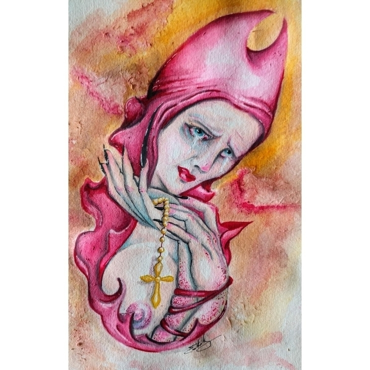Saint - watercolor, illustration - hag_attack | ello