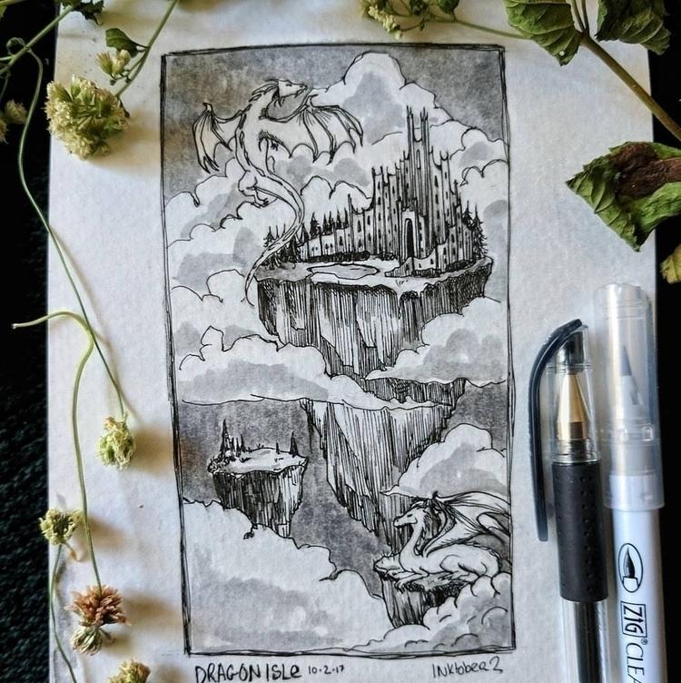 dragon isle • kris lorraine - illustration - krislorraine | ello