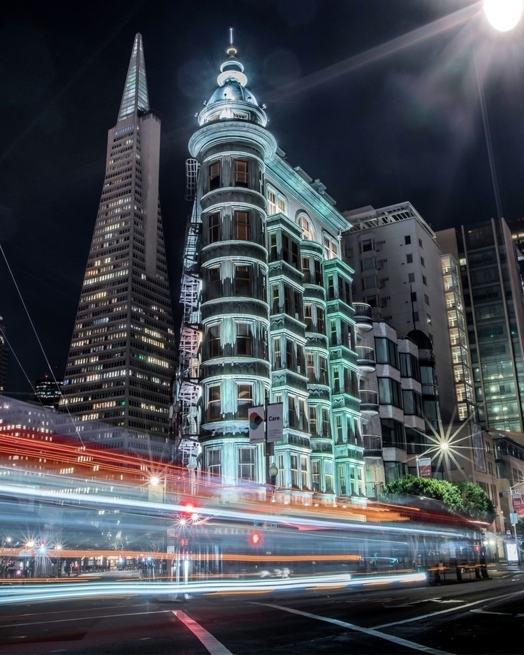 City lights - sf, sanfran, sanfrancisco - floodthesensor | ello