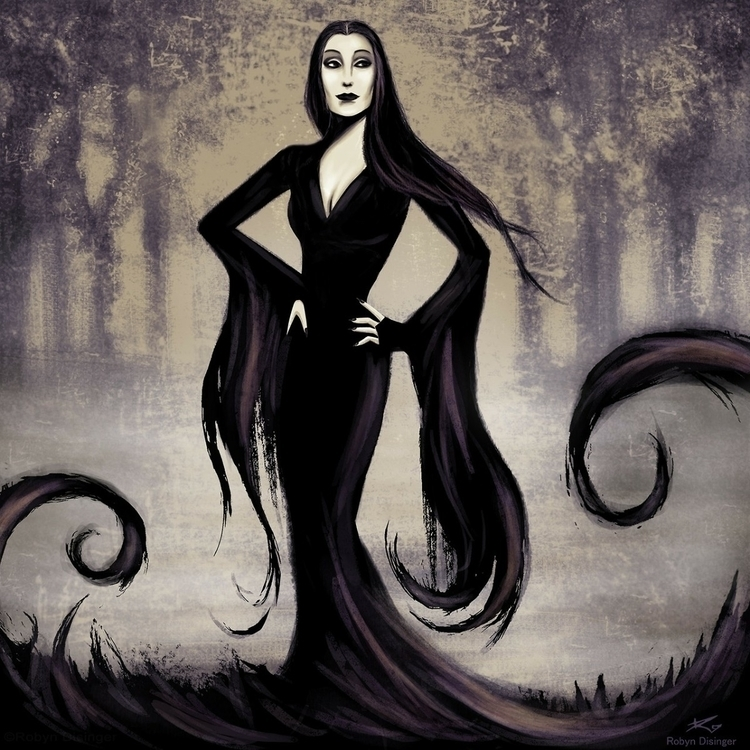 Morticia Addams 🖤🥀🖤 - morticia, addamsfamily - jollymacabre | ello