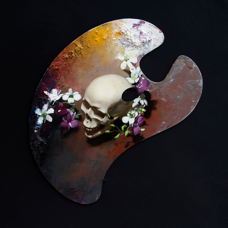 Death Oil Wooden Palette 36cm 5 - kieraningram | ello