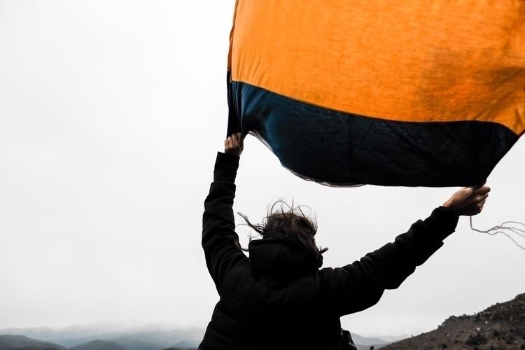 Buddhist flag - gliding motion  - ulyssepicture | ello