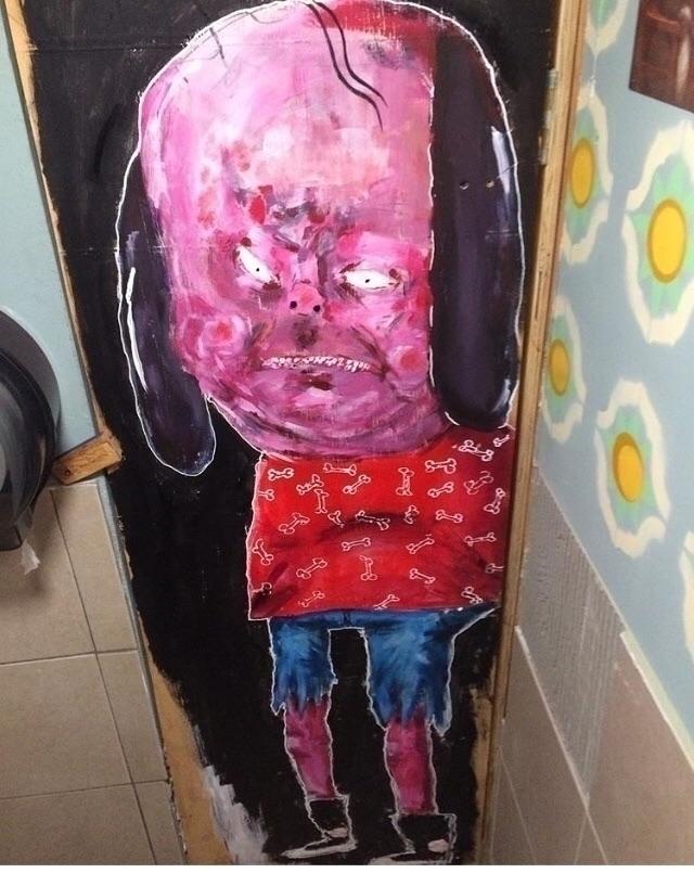Dogboy painting bathroom job - damianrivera - damianrivera | ello