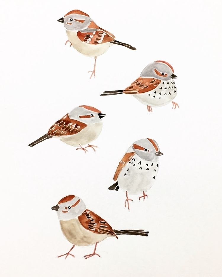 winter sparrow ーーーーーーーーーーーーーーー - igimidraws | ello
