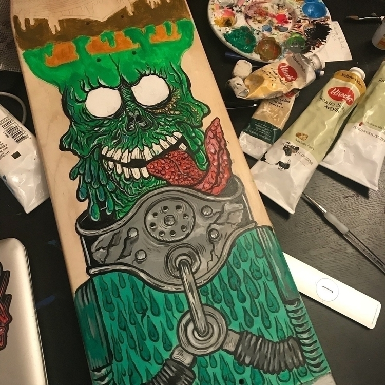 Progress dude - santacruz, toppsmarsattacks - woodencyclops | ello