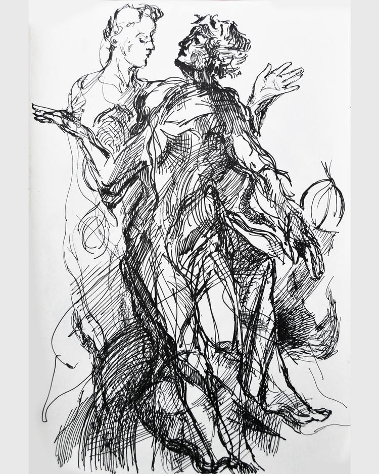 zwischen werden und vergehen  - drawing - hannahhaffmans | ello