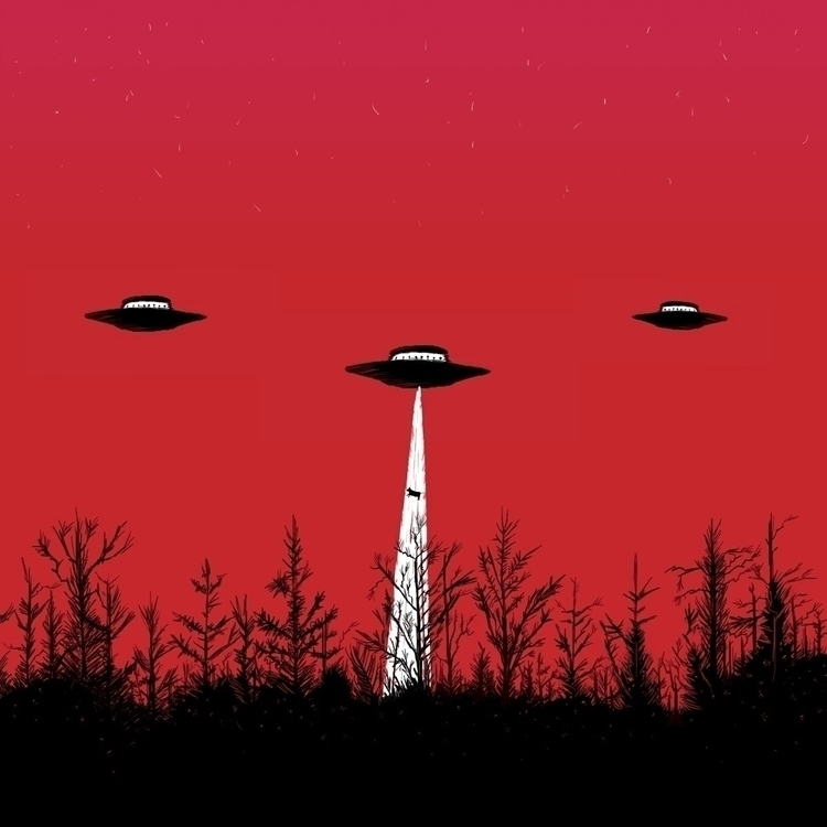 ufo, horrorart, music, scifi - wolfmenofmars   ello