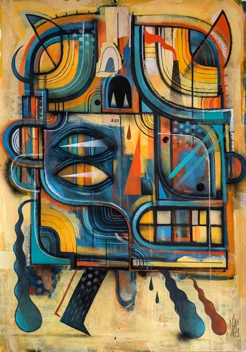 ' RAY - Painting mixed media (  - niark1 | ello